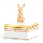 Herend Bunny Box Butterscotch Fishnet