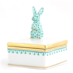 Herend Bunny Box Green Fishnet