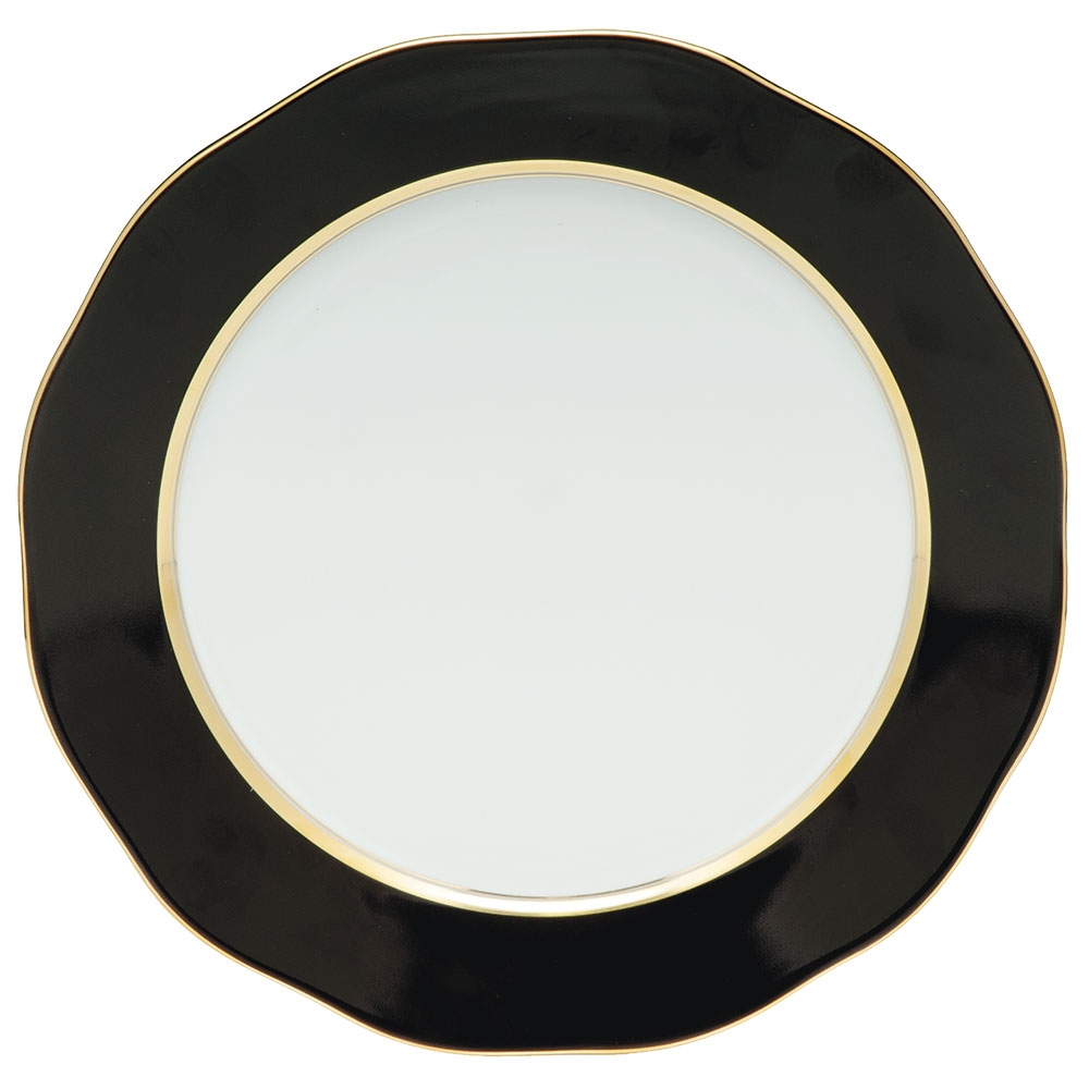 Herend China Black Charger Plate At Herendstore
