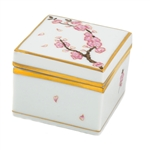 Herend Cherry Blossom Butterfly Square Box