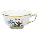 Herend China Asian Garden Tea Cup Motif 4
