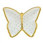 Herend Connect the Dots Butterfly Porcelain Dish