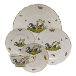 Herend Chanticleer Five Piece Place Setting Motif 4