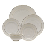 Herend Golden Edge Five Piece Place Setting