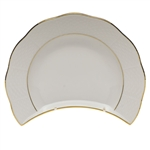 Herend Golden Edge Crescent Salad Plate