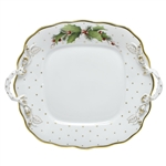 Herend China Winter Shimmer Porcelain Cake Plate