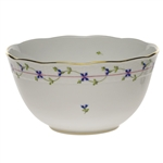 Herend Blue Garland Round Serving Bowl