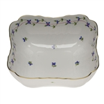 Herend Blue Garland Square Salad Bowl