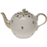 Herend Blue Garland Tea Pot With Rose