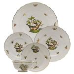 Herend Rothschild Bird Five Piece Place Setting Motif #2