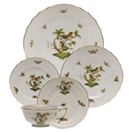 Herend Rothschild Bird Five Piece Place Setting Motif #3