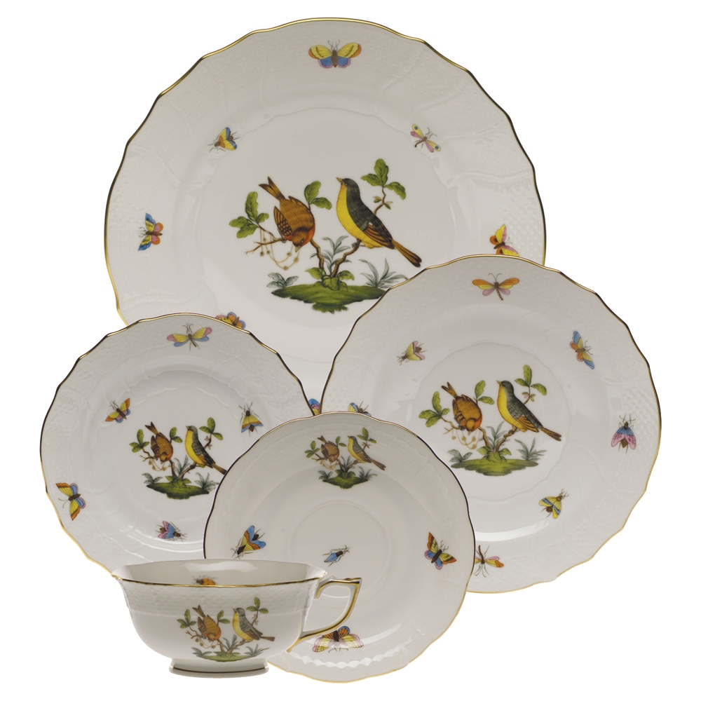 sc 1 st  Herendstore.com & Herend Rothschild Bird Five Piece Place Setting Motif #7