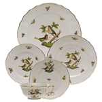 Herend Rothschild Bird Five Piece Place Setting Motif #8