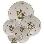 Herend Rothschild Bird Five Piece Place Setting Motif #10