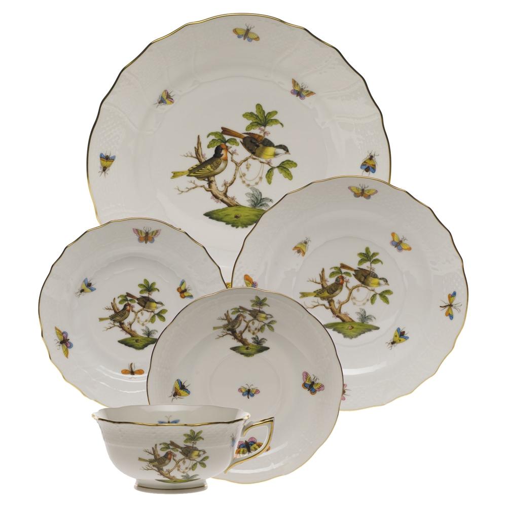 Herend Rothschild Bird Porcelain Tea Cup Motif #11