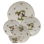 Herend Rothschild Bird Five Piece Place Setting Motif #12