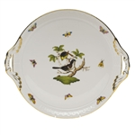 Herend Rothschild Bird Round Tray With Handles
