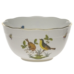 Herend Rothschild Bird Round Serving Bowl