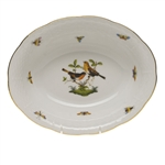 Herend Rothschild Bird Oval Vegetable Dish