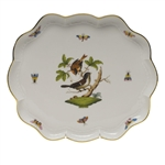 Herend Rothschild Bird Scallop Tray