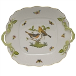 Herend Rothschild Bird Square Cake Plate
