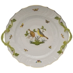 Herend Rothschild Bird Chop Plate With Handles