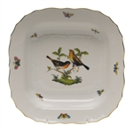 Herend Rothschild Bird Square Fruit Dish