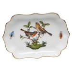 Herend Mini Scalloped Tray Rothschild Bird