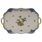 Herend Rothschild Bird Blue Rectangular Tray