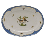 Herend Rothschild Bird Blue Platter