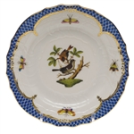 Herend Rothschild Bird Blue Bread & Butter Plate Motif #4