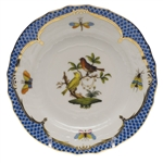 Herend Rothschild Bird Blue Bread & Butter Plate Motif #6