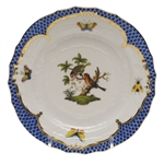 Herend Rothschild Bird Blue Bread & Butter Plate Motif #10