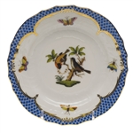 Herend Rothschild Bird Blue Bread & Butter Plate Motif #12