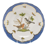 Herend Rothschild Bird Blue Dessert Plate Motif #5