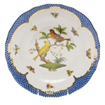 Herend Rothschild Bird Blue Dessert Plate Motif #6