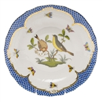Herend Rothschild Bird Blue Dessert Plate Motif #7