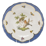 Herend Rothschild Bird Blue Dessert Plate Motif #10