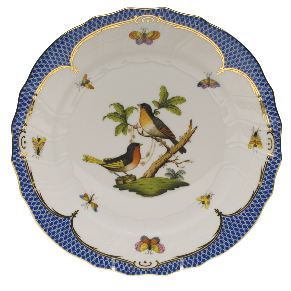 Herend Rothschild Bird Blue Dinner Plate Motif #8  sc 1 st  Herendstore.com & Herend Rothschild Bird Blue Dinner Plate Motif #8 at Herendstore