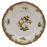 Herend Rothschild Bird Brown Bread & Butter Plate Motif #6