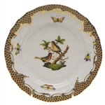 Herend Rothschild Bird Brown Bread & Butter Plate Motif #8