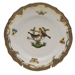 Herend Rothschild Bird Brown Bread & Butter Plate Motif #9