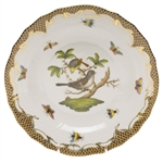 Herend Rothschild Bird Brown Dessert Plate Motif #1