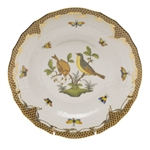 Herend Rothschild Bird Brown Dessert Plate Motif #7