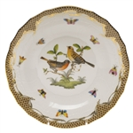 Herend Rothschild Bird Brown Dessert Plate Motif #9