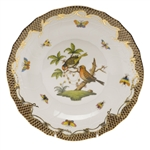 Herend Rothschild Bird Brown Dessert Plate Motif #10