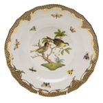 Herend Rothschild Bird Brown Dessert Plate Motif #11