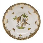 Herend Rothschild Bird Brown Dessert Plate Motif #12