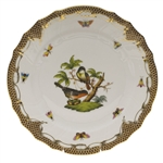 Herend Rothschild Bird Brown Dinner Plate Motif #2