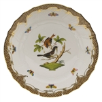 Herend Rothschild Bird Brown Dinner Plate Motif #4